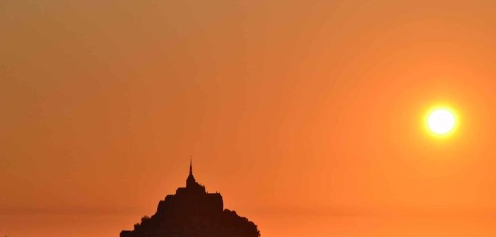 sunset france twilight normandy